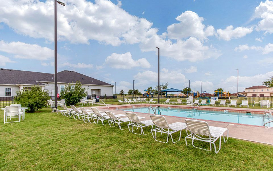Pool located at Altus AFB Homes