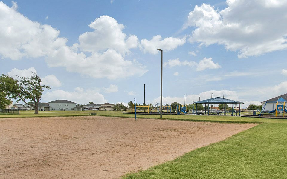 Sand volleyball court at Altus AFB Homes