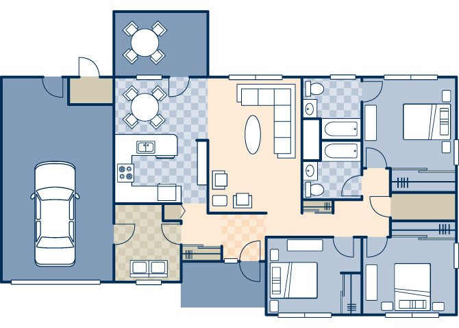 Ocotillo Manor 1531 Floor Plan 1