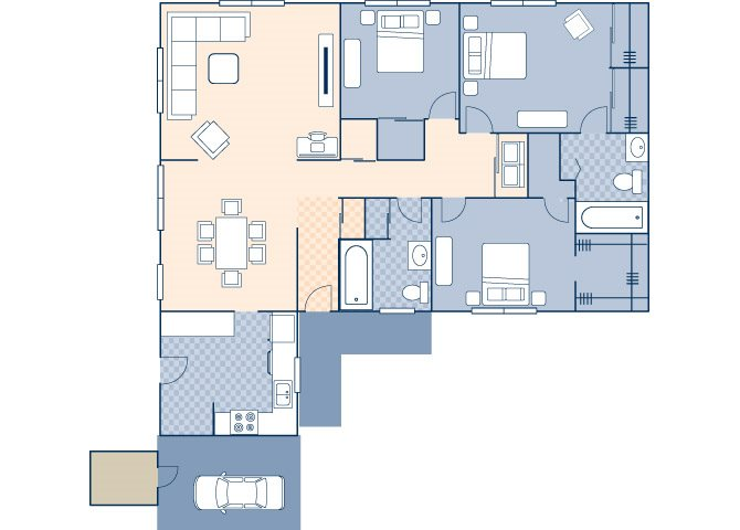 Freedom Estates 1147 Floor Plan 1