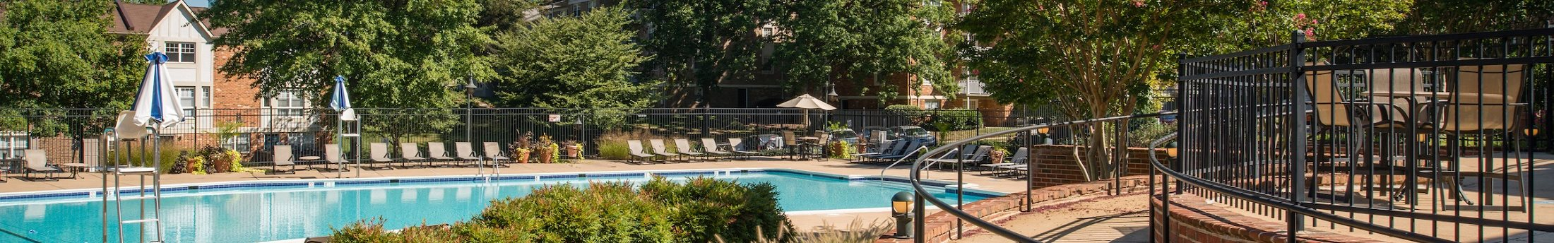 View Looking To Swimming Pool And Sundeck Area At Amberleigh Apartments In Fairfax Virginia 22031