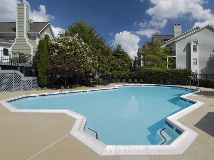 Large swimming pool at The Edgemoore apartments in Alexandria, VA 22315
