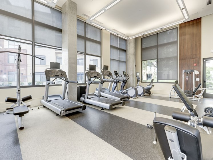 High-Tech Fitness Center at Flats at Atlas, Washington, DC