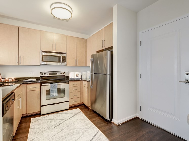 Efficient Appliances In Kitchen at Flats at Atlas, Washington