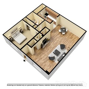 1 Bedroom 1 Bathroom Apartment