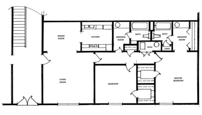 2 Bedroom, 2 Bath - Large Floor Plan 3