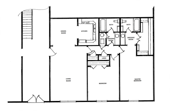 2 Bedroom, 2 Bath - Small Floor Plan 4