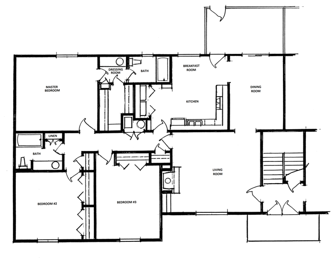 3 Bedroom, 2 Bath Floor Plan 5