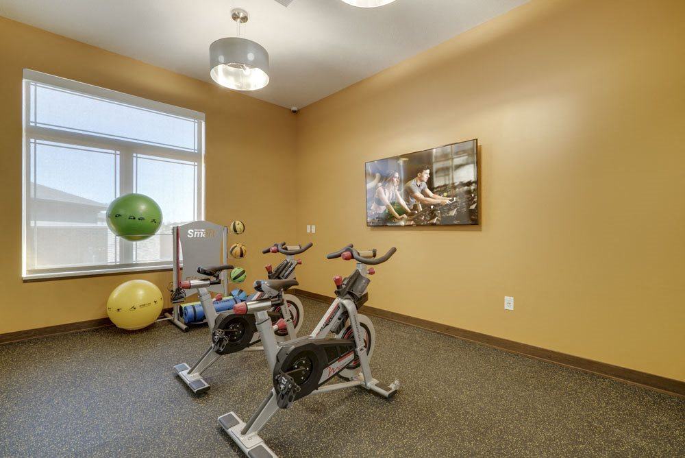 Spin studio at WH Flats apartments in south Lincoln NE