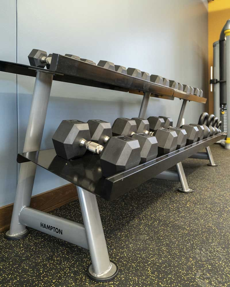 WH Flats luxury apartments free weights in south Lincoln NE