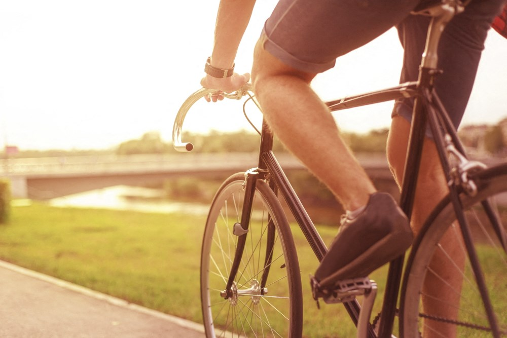 Ride bikes on nearby trails at WH Flats new luxury apartments in south Lincoln NE