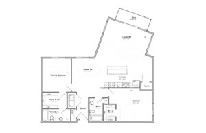 Hibiscus-Two-bedroom apartment at WH Flats in south Lincoln NE