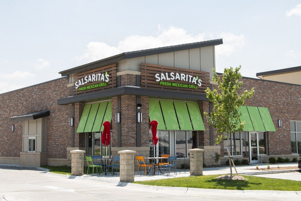 Salsarita's restaurant that's steps away from WH Flats luxury apartments in south Lincoln NE 68516