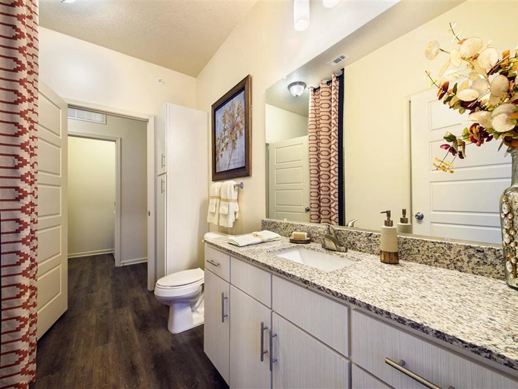 Bathroom with vanity mirror