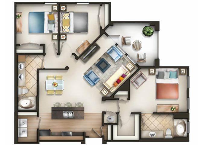 Mosaic Floor Plan 4