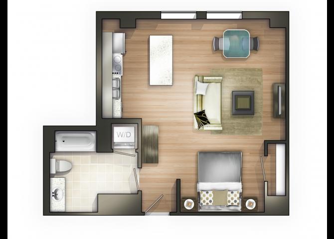 THE DECO Floor Plan 1