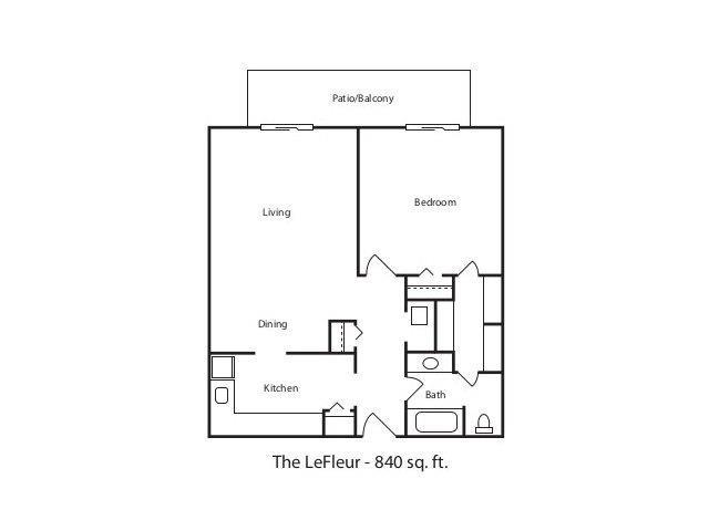 THE LEFLEUR Floor Plan 3