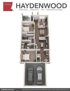 Haydenwood - 2 Bed, 2 Bath, Private-Attached Garage