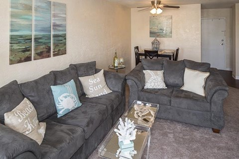 The Overlook at Daytona Apartment Homes|Living Room