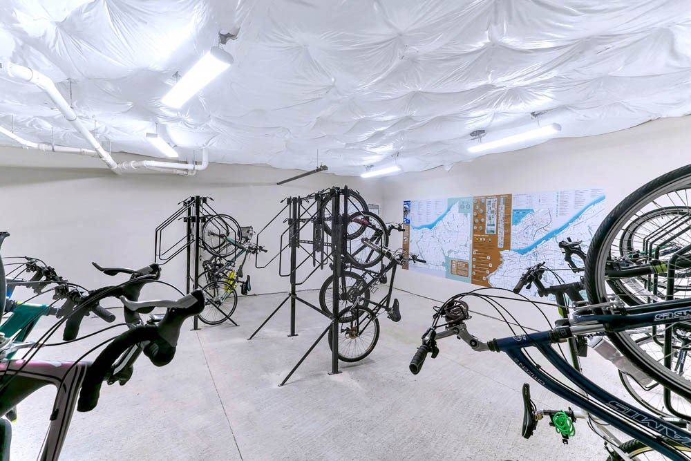 Climate controlled bicycle storage area
