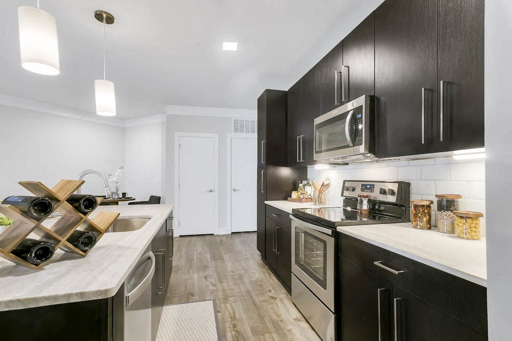 Stunning finishes and stainless steel appliances at The Aster