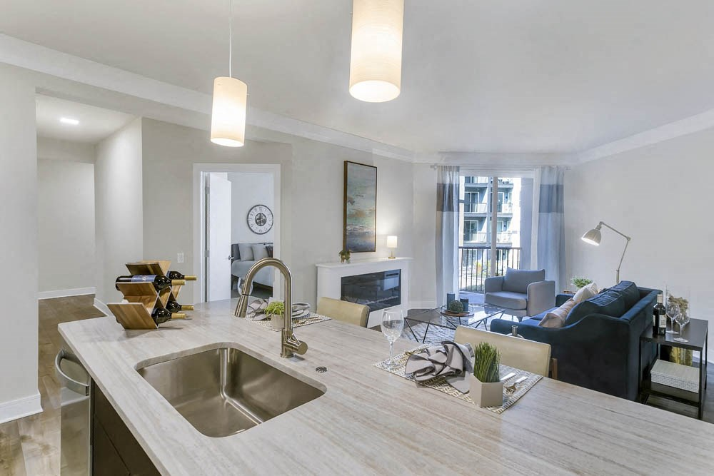 Open-concept floor plan great for entertaining guests