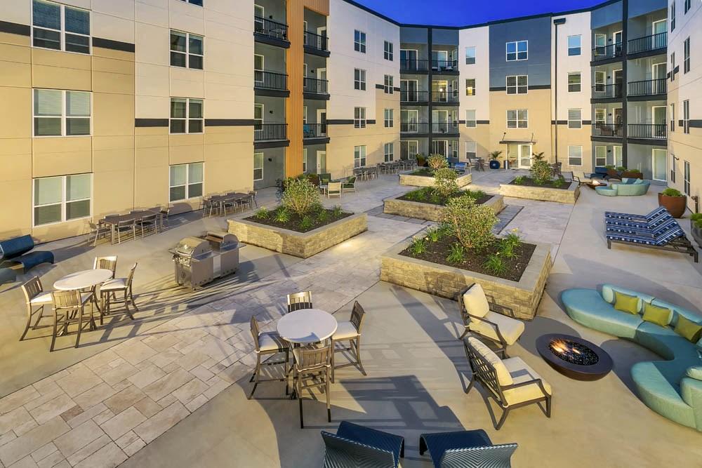 Spacious enclosed patio space