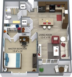 The alder floor plan by The Aster