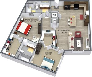 The birch floor plan by The Aster
