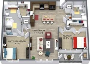 The chestnut floor plan byThe Aster