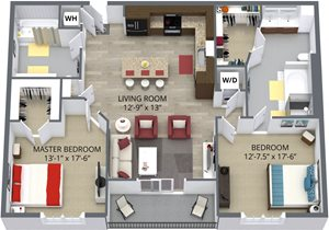 The dahlia floor plan by The Aster
