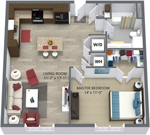 The elm floor plan by The Aster