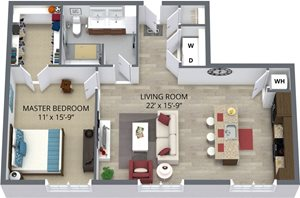The golden floor plan by The Aster
