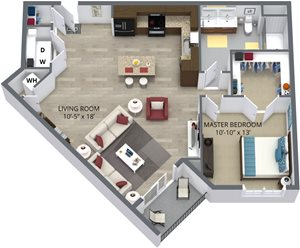 The hawthorn floor plan by The Aster