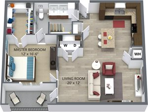 The hazelnut floor plan by The Aster
