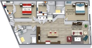 The marigold floor plan by The Aster