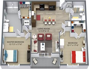 The mulberry floor plan by The Aster
