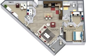 The pearly floor plan by The Aster