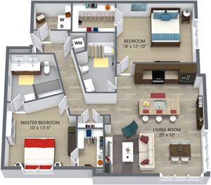 The redbud floor plan by The Aster