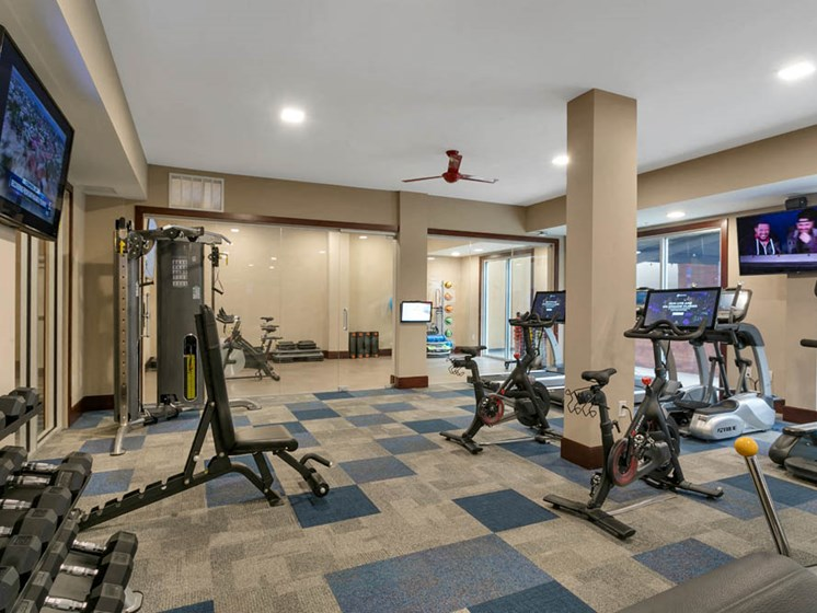 Gym area in the aster apartments