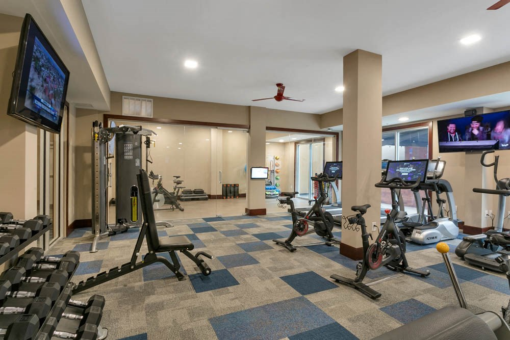Large gym with televisions