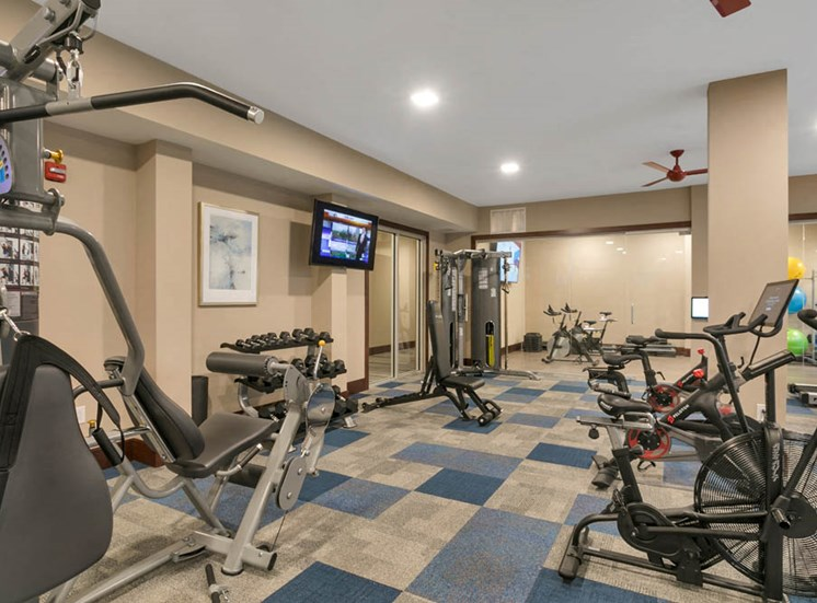 Gym section in the aster apartments