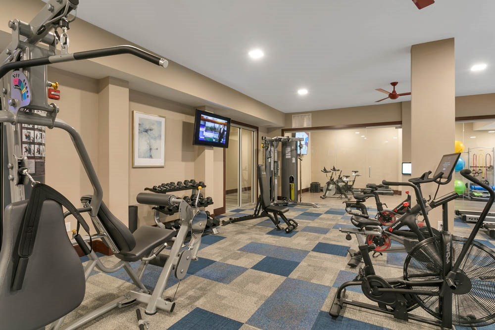 Large gym with diverse equipment