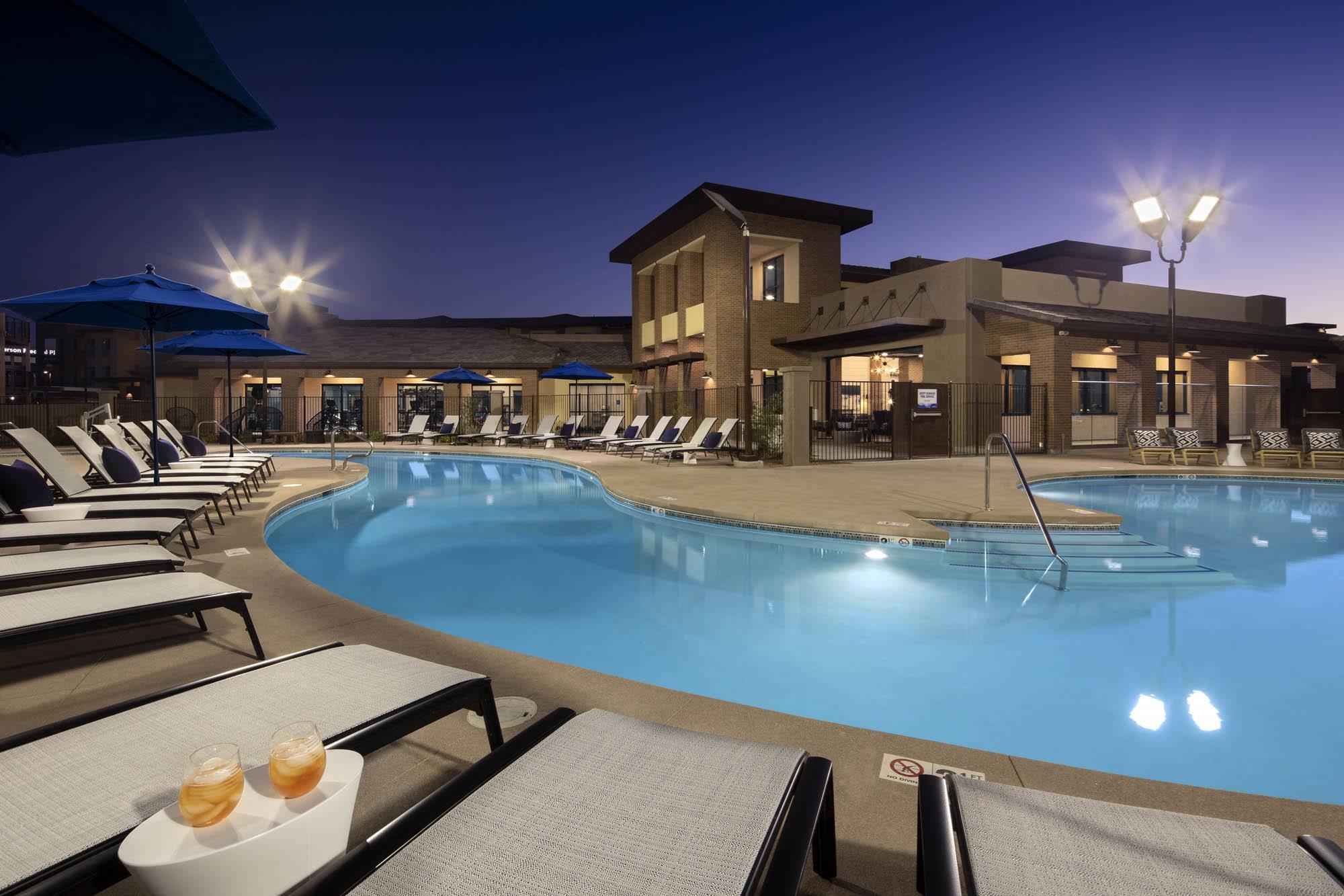 Sparkling Pool & Spa Deck