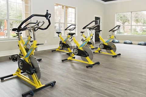stationary bikes in fitness center