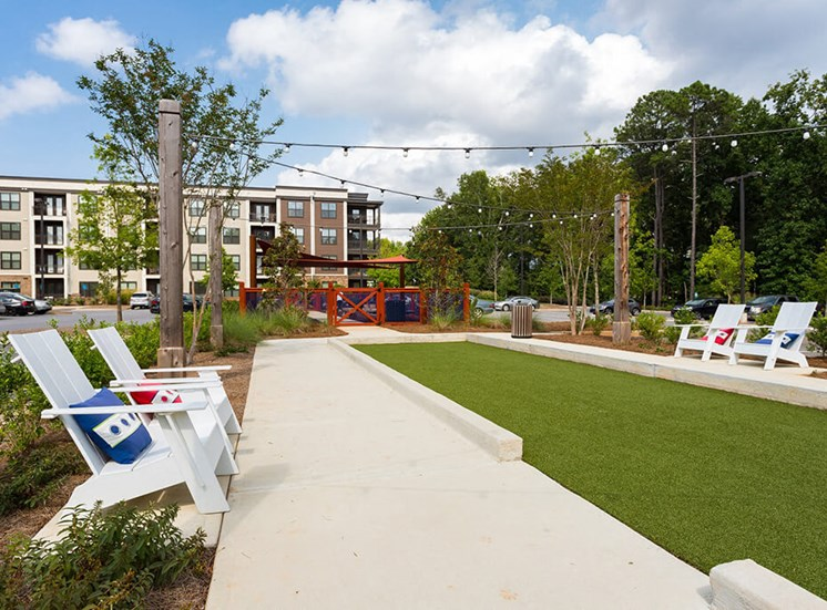 Tap in to the New Bocce Ball craze and Enjoy this Outdoor Game at Echo at North Pointe Center Apartment Homes, Alpharetta, GA 30009