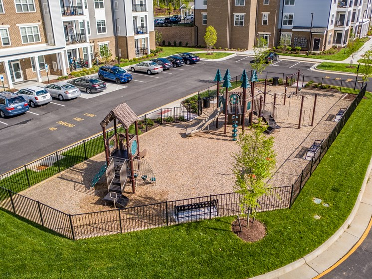 Secured Play Area at Abberly CenterPointe Apartment Homes by HHHunt, Virginia