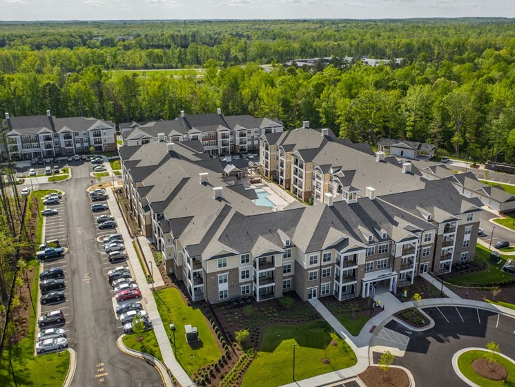 Aerial View Of Community at Abberly CenterPointe Apartment Homes by HHHunt, Midlothian, VA