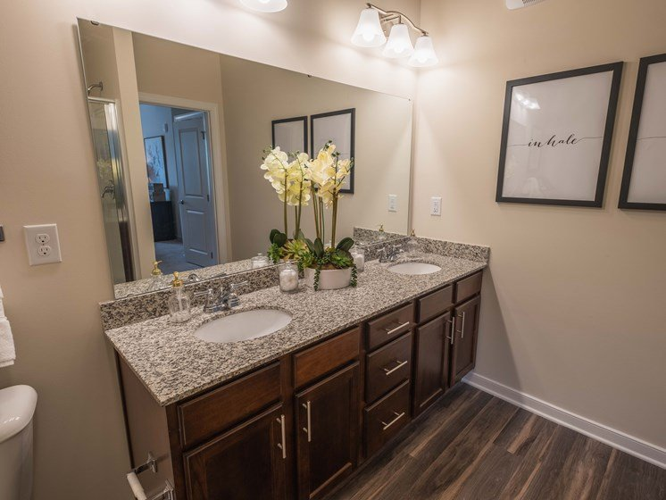 Luxurious Bathrooms at Abberly CenterPointe Apartment Homes by HHHunt, Midlothian