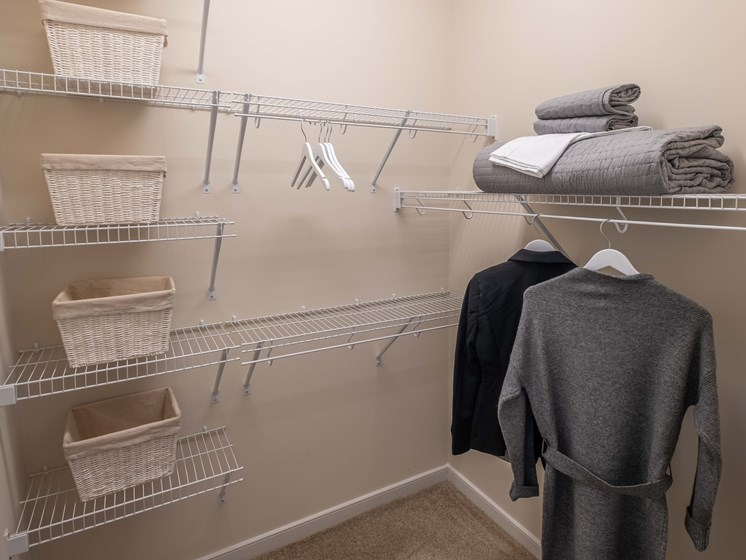 Walk-In Closets And Dressing Areas at Abberly CenterPointe Apartment Homes by HHHunt, Virginia, 23114